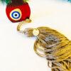 Γούρι ρόδι plexiglass με φούντα χρυσή και επιχρυσωμένο 20